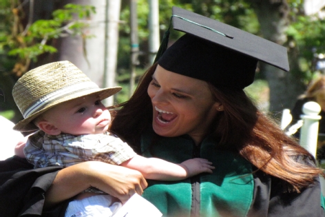Child and Graduate Mom