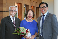 UCI Health gastroenterologist Dr. Hooshang Meshkinpour and his wife, Dr. Farzan Naeim with Dr. Kennenth Chang, director of the H.H. Chao Comprehensive Digestive Disease Center.