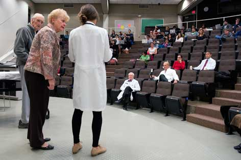 Stage performance teaches medical students the importance of compasionate elder care
