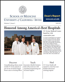 Dean's Report Fall 2011 UC Irvine School of Medicine