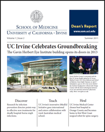 Summer 2011 Dean's Report, UC Irvine School of Medicine