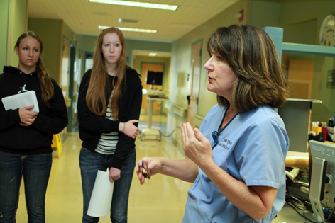 Half-day tour of UC Irvine Douglas Hospital gives high school students a glimpse of a medical student's life.