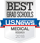 U.S. News & World Report Best Medical School for Research, 2018